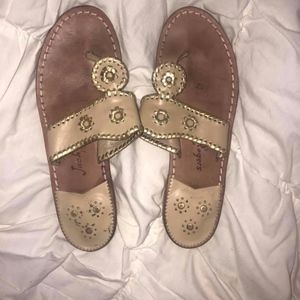 Gold Jack Rogers Women's Size 9